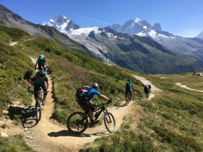 enduro riding at le Tour in the Chamonix valley